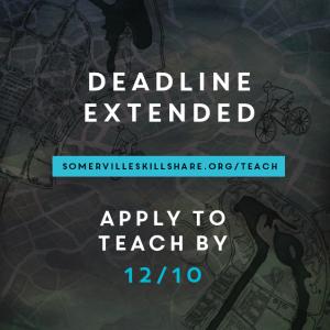 Somerville Skillshare deadline extended